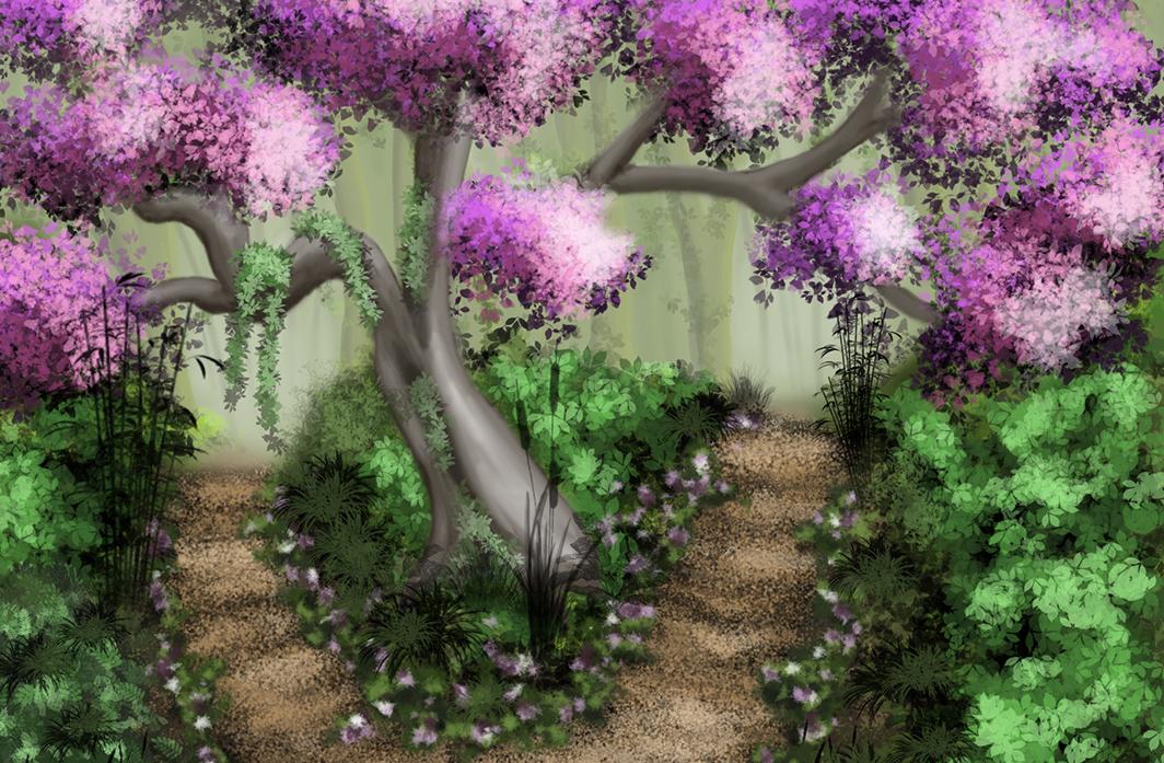 Japanese garden made in Photoshop